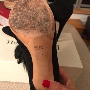 Gucci Shoes - Gucci Furball Peep Toes!